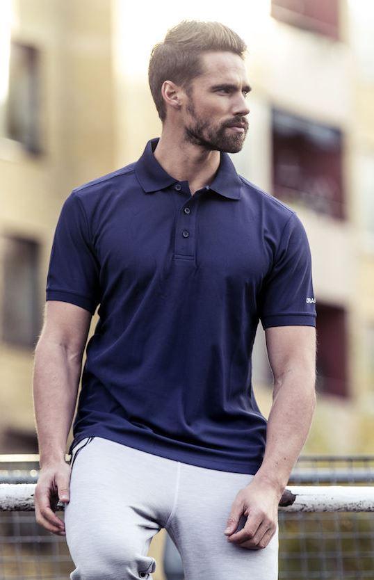 craft polo skjorte med trykk av logo