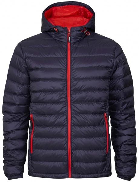 jakke med hætte og logo